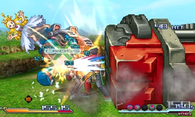 Nombreux sont les personnages qui font une apparition succincte lors d'une attaque, comme ici Bloodia, le robot de Jin, de Cyberbots.